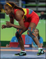 Jackeline Rentería, luchadora olímpica colombiana